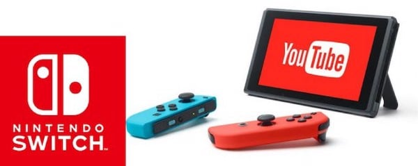 App Youtube trên Nintendo Switch