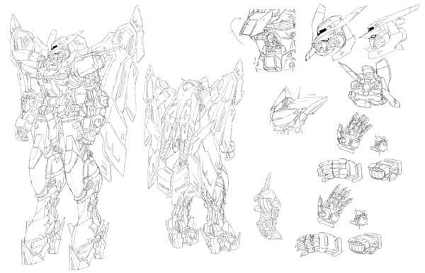 Bản thiết kế Gundam Astray Gold Frame Amatsu Mina