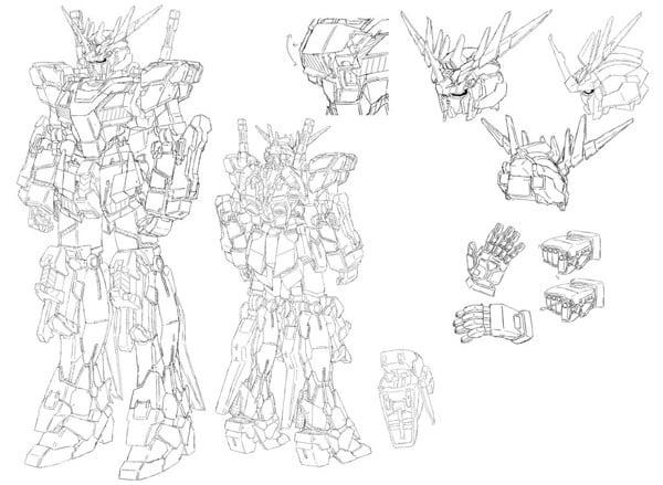 Bản thiết kế Gundam Banshee Unicorn