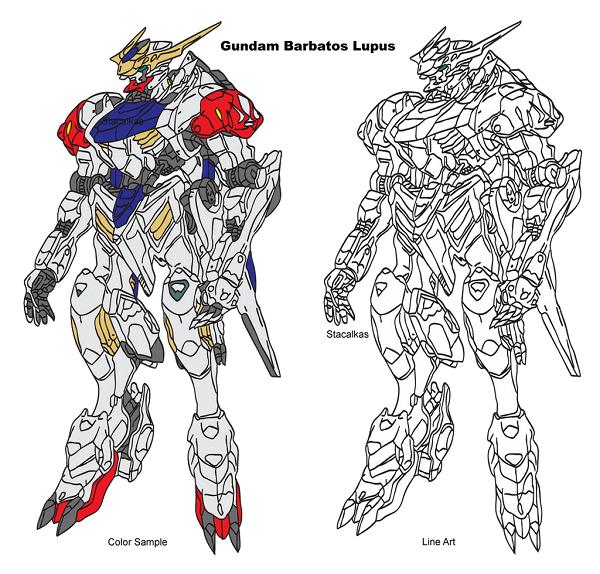 Bản thiết kế Gundam Barbatos