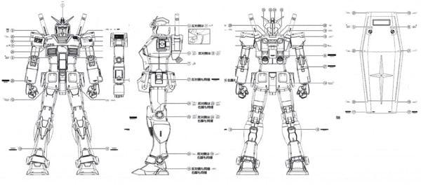 Bản thiết kế Gundam RX-78-2