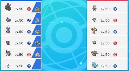 Pokemon Level 50 trong Pokemon Sword and Shield