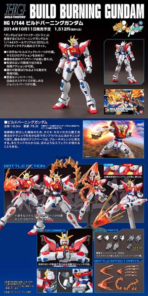 BUILD BURNING GUNDAM HGBF  1144 nshop