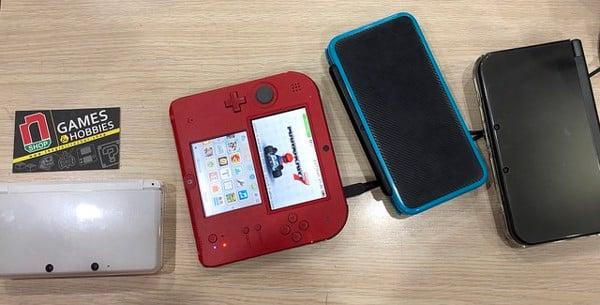 Các dòng máy cầm tay Nintendo 2DS và 3DS cũ