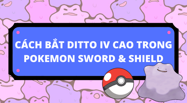 Cách bắt Pokemon Ditto trong Pokemon Sword and Shield
