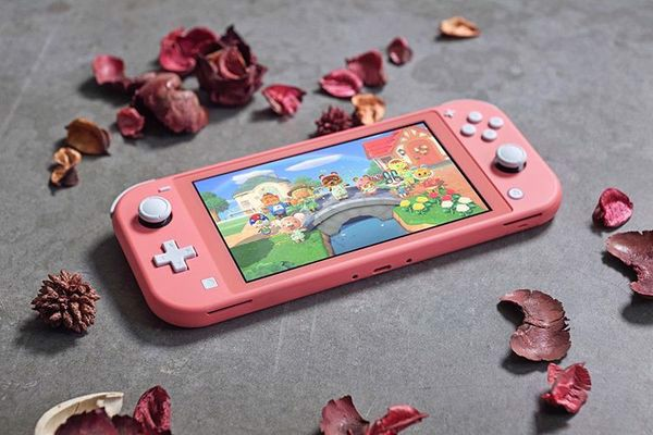 cách chơi game Nintendo Switch Lite Coral
