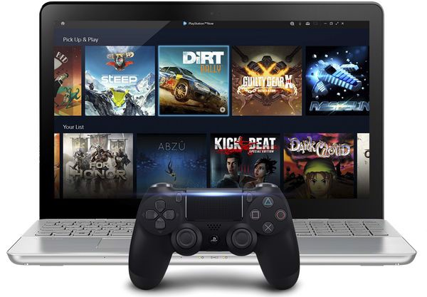 cách chơi playstation now laptop