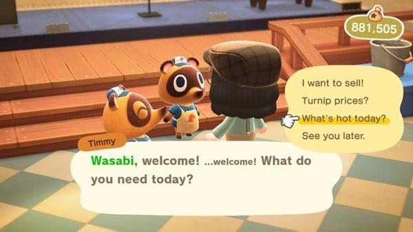 Cách Farm Bell bằng bán Hot Item trong Nook Cranny Animal Crossing