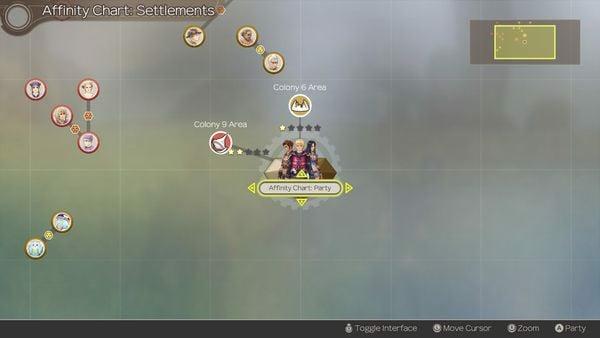 cách nâng Xenoblade Chronicles Affinity Chart