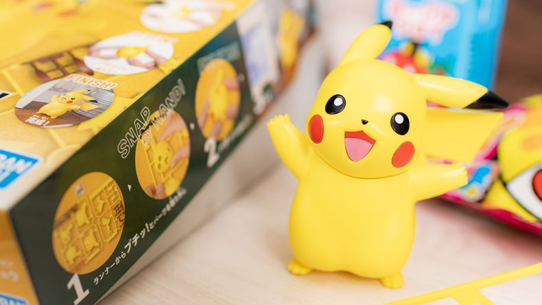 cận cảnh figure Pokemon Plamo Collection Quick pikachu