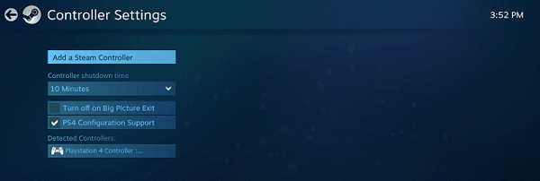cập nhật tay cầm ps4 chơi game pc steam