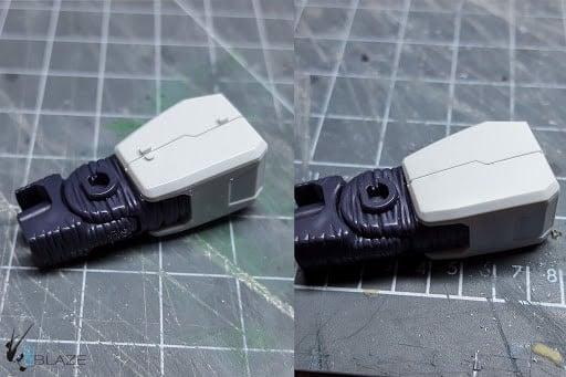 chà nhám để loại bỏ ghẻ trên mô hình Gundam
