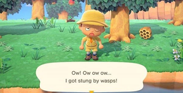 chay khoi ong animal crossing