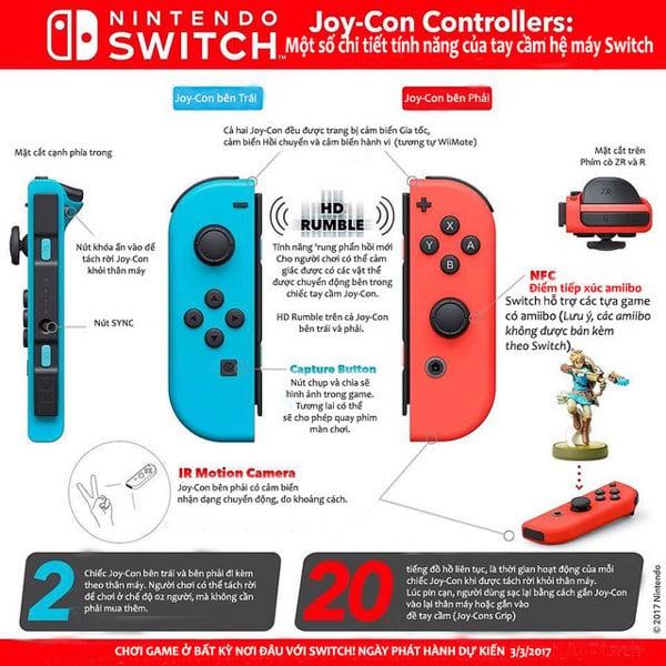 Hướng dẫn xài Joycon Nintendo Switch