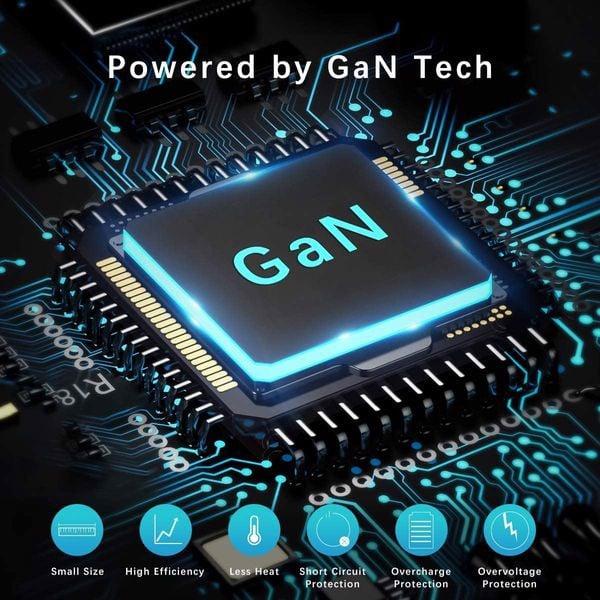 Cốc sạc nhanh kiêm pin sạc dự phòng Baseus GaN 45W Type C công nghệ cao