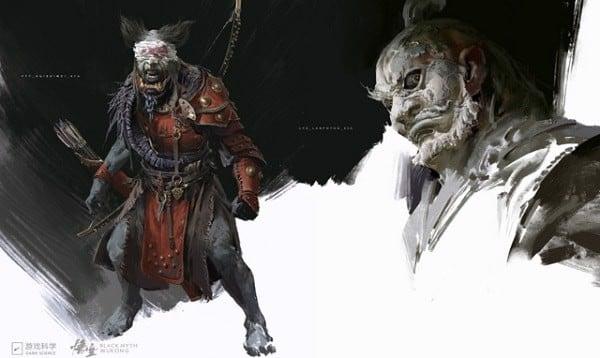 concept art Black Myth Wukong