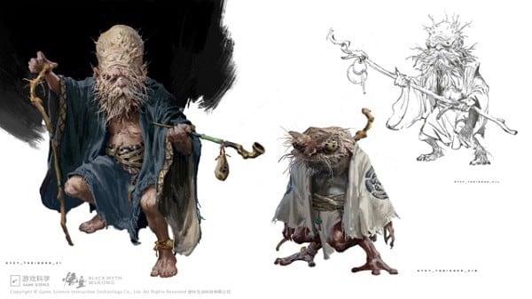 concept art Black Myth Wukong dep