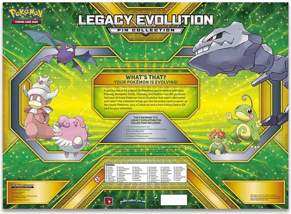 LEGACY EVOLUTION PIN COLLECTION POKEMON TRADING CARD GAME