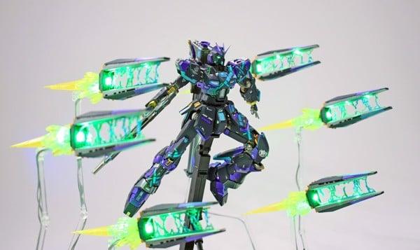 Custom Gundam 1 144 RG Nu Gundam DarkSider
