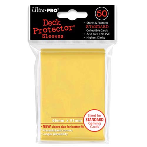 DECK PROTECTOR SLEEVES STANDARD YELLOW
