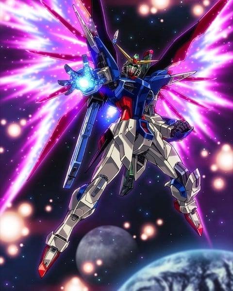 Destiny Gundam Wings of Light Gundam có cánh hiệu ứng đẹp