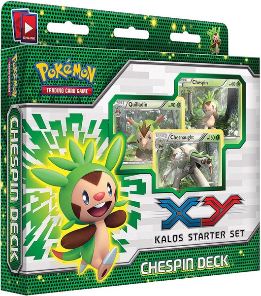 CHESPIN DECK POKEMON TRADING CARD GAME KALOS STARTER SET