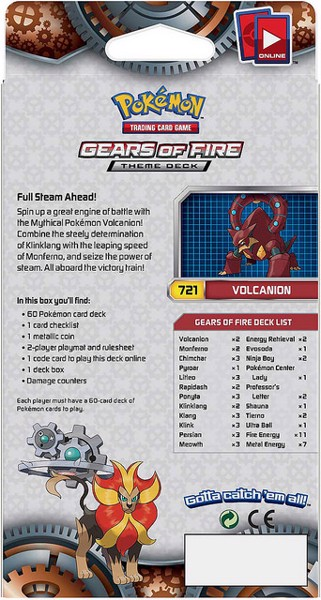 GEARS OF FIRE THEME DECK POKEMON TRADING CARD GAME