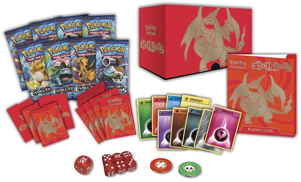 EVOLUTIONS ELITE TRAINER BOX MEGA CHARIZARD Y VERSION POKEMON TRADING CARD GAME
