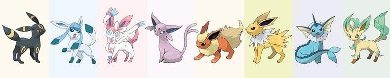 Eeveelution Top Pokemon đẹp nhất