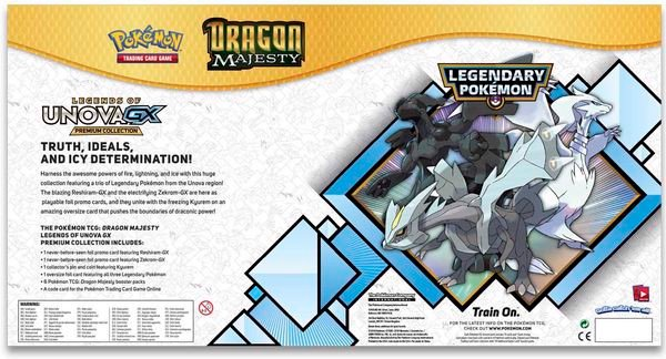 shop pokemon bán bài Dragon Majesty Legends of Unova GX Premium Collection
