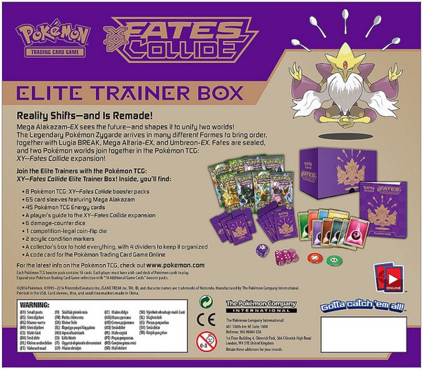FATES COLLIDE ELITE TRAINER BOX POKEMON TRADING CARD GAME