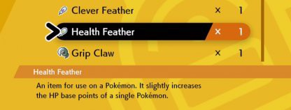 Wing (Feather) giúp tăng EV cho Pokemon