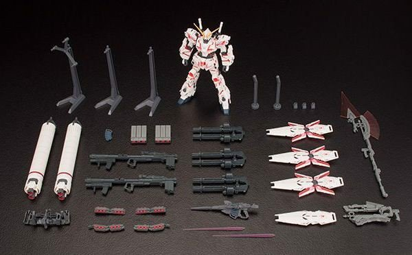 figure Full Armor Unicorn Gundam Destroy Mode Red HGUC