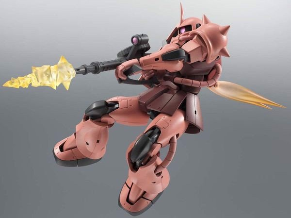 figure Zaku II Char Custom Model ver Anime Robot Spirits Side MS R193