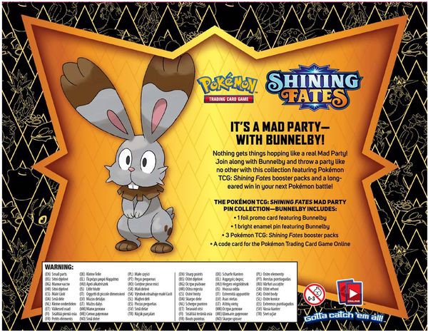 hướng dẫn chơi Pokemon TCG Shining Fates Mad Party Pin Collection Bunnelby