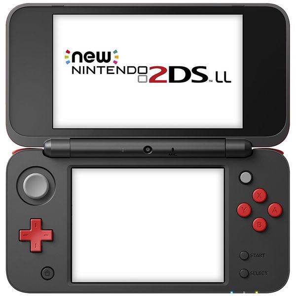 game cầm tay New Nintendo 2DS LL black red