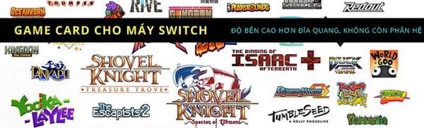 Game dành cho máy Nintendo Switch bán ra tại nShop