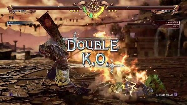 Game Soulcalibur đánh lộn 2 người trên PS4