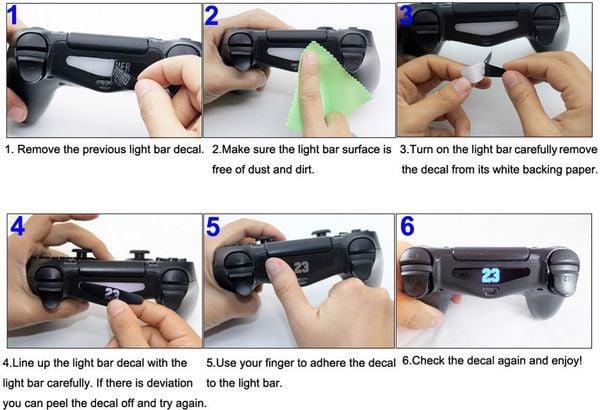 game shop bán phụ kiện Mieng dan LED trang trí tay cầm PS4