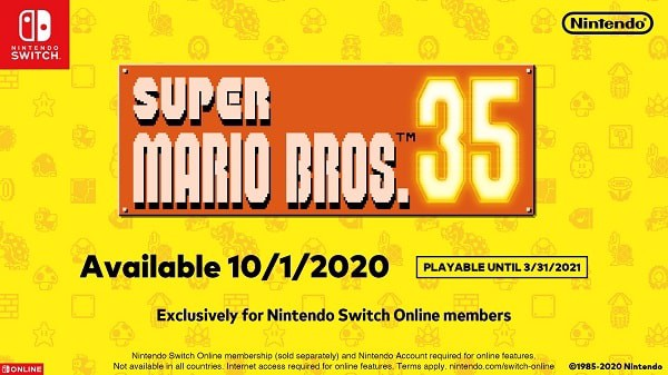 Game Super Mario Bros 35 trên NIntendo Switch Online