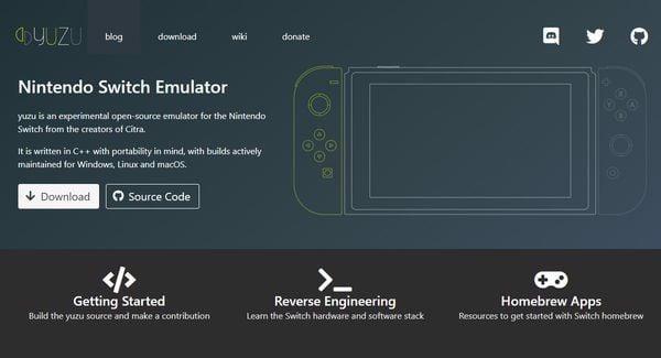 giả lập nintendo switch emulator yuzu
