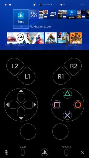 Remote play interface to vertical phone