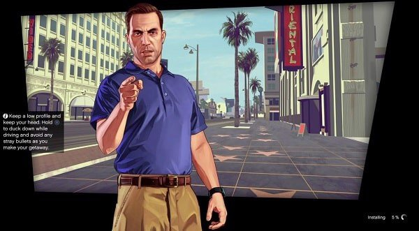 gta 5 ps4 install game