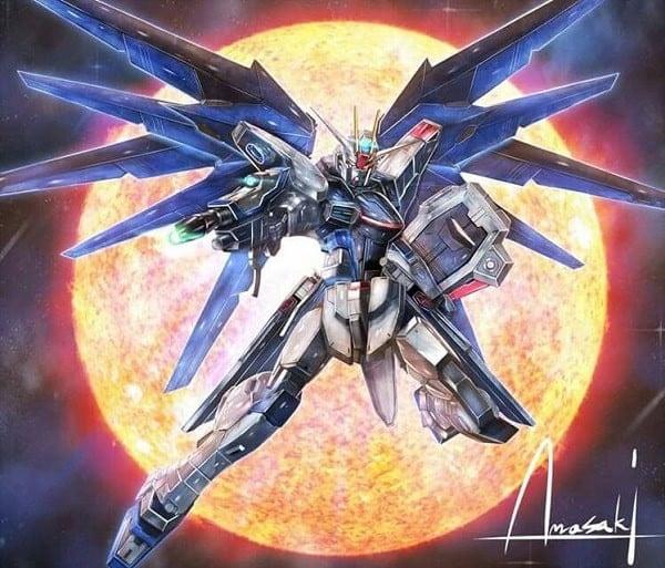 Mô hình Gundam có cánh đẹp Freedom Gundam chính hãng Bandai