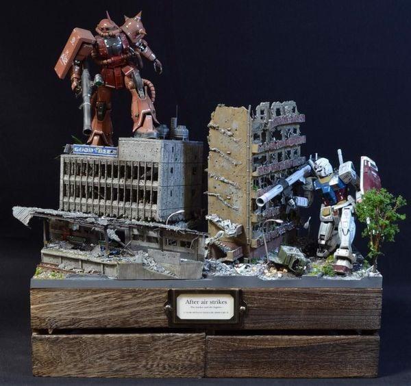 gundam diorama city thành phố