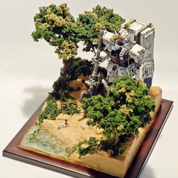 gundam diorama forest rừng rậm