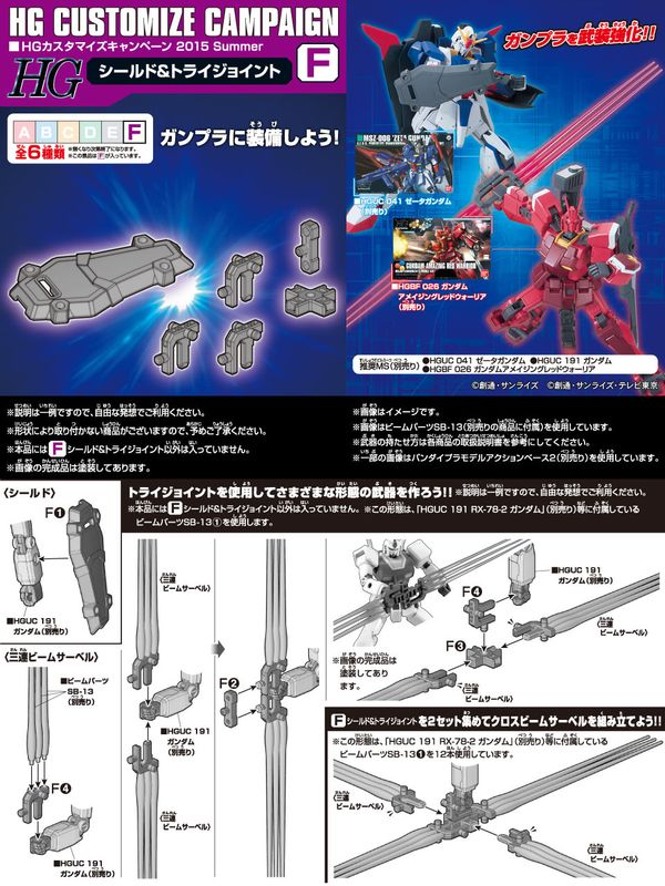 Gundam HG Customize Campaign 2015 Summer F Shield Tri-Joint