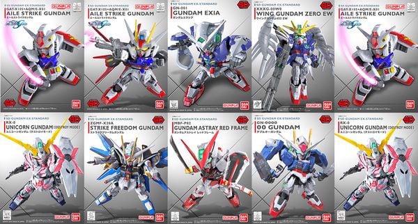 gundam sd ex-standard đa dạng