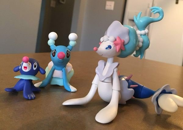 figure Pokemon Evolution Set Primarina Popplio Brionne Figure chính hãng