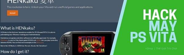 Dịch vụ hack máy Sony PS Vita tại cửa hàng nShop